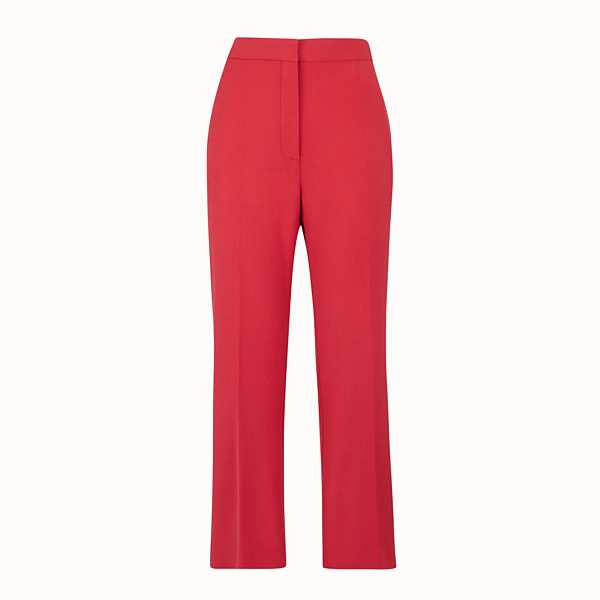 FENDI PANTS - Red wool pants - view 1 small thumbnail