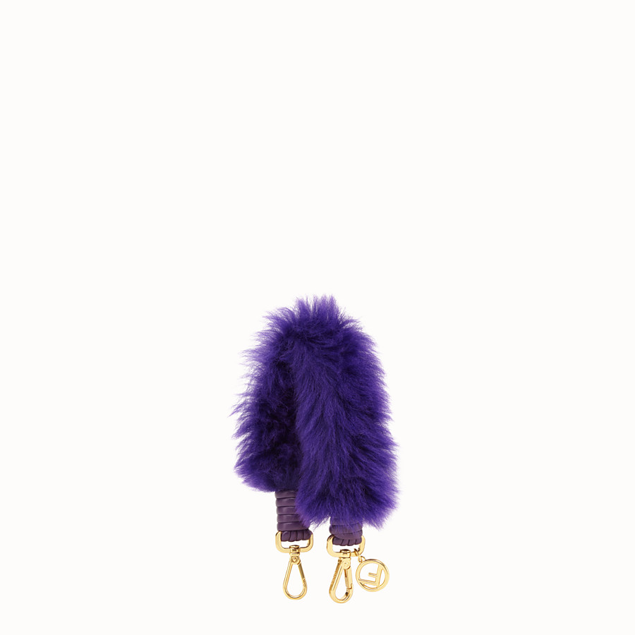FENDI MINI STRAP YOU - Purple sheepskin shoulder strap - view 1 detail
