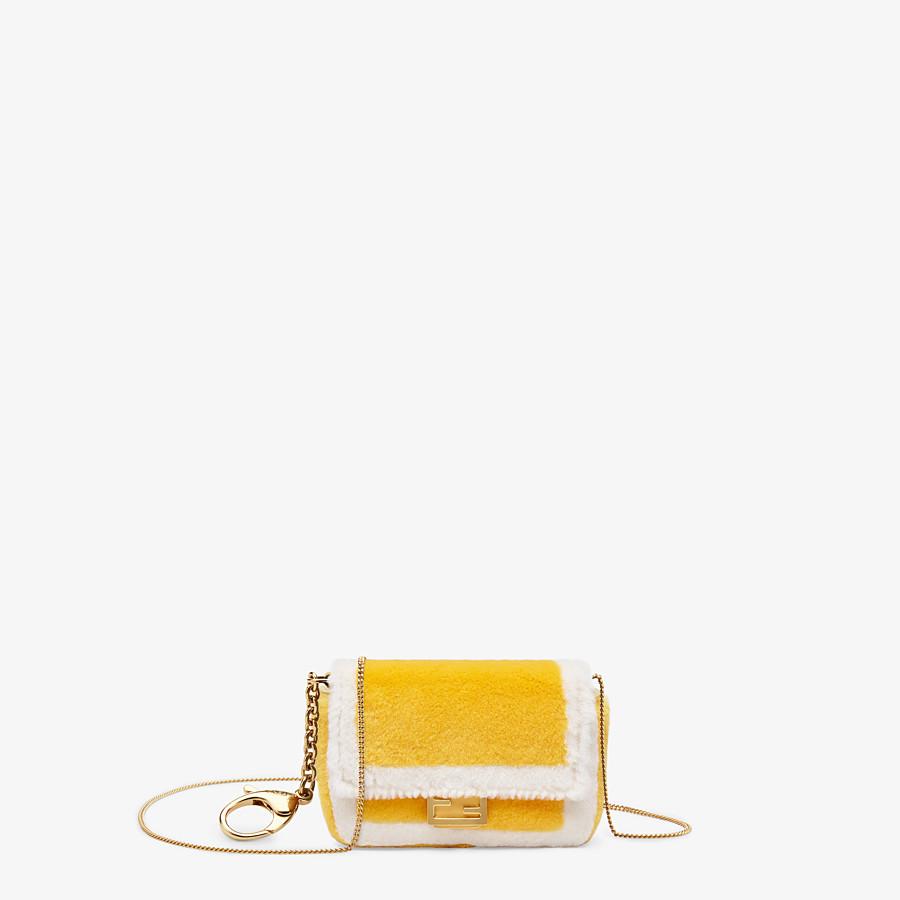 FENDI NANO BAGUETTE CHARM - Yellow mink charm - view 1 detail