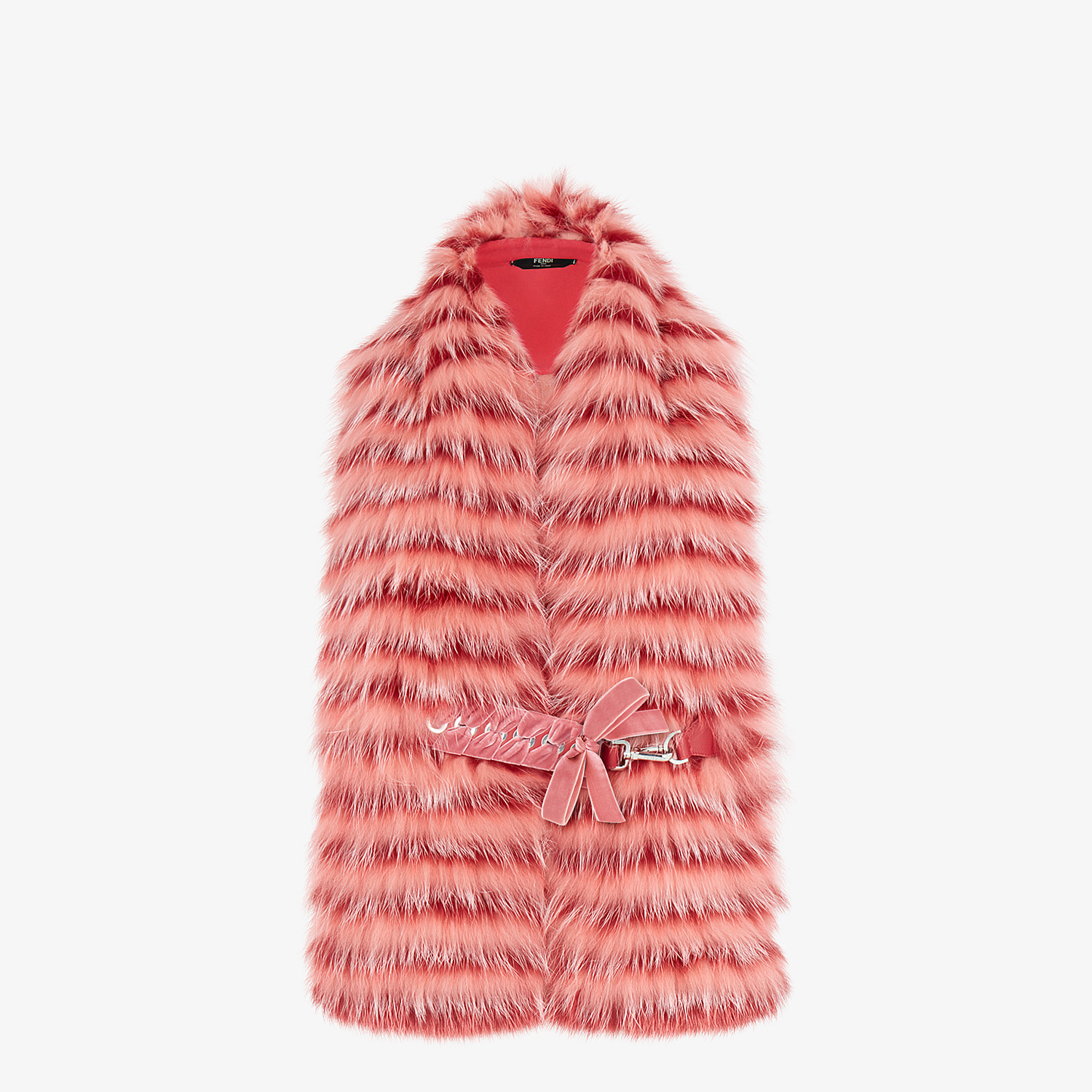 FENDI COLLAR - Pink fox fur collar - view 1 detail