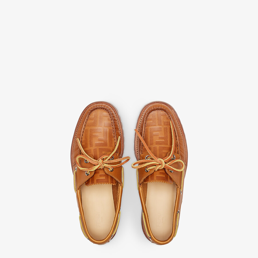 FENDI LOAFERS - Brown leather loafers - view 4 detail