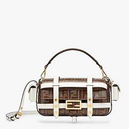 FENDI BAGUETTE CAGE - Brown fabric bag - view 1 thumbnail