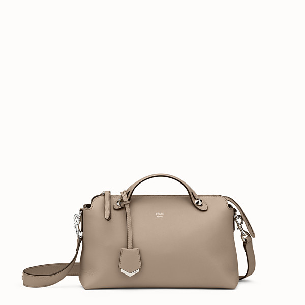 FENDI BY THE WAY MEDIUM - Small Boston bag in beige leather - view 1 small thumbnail