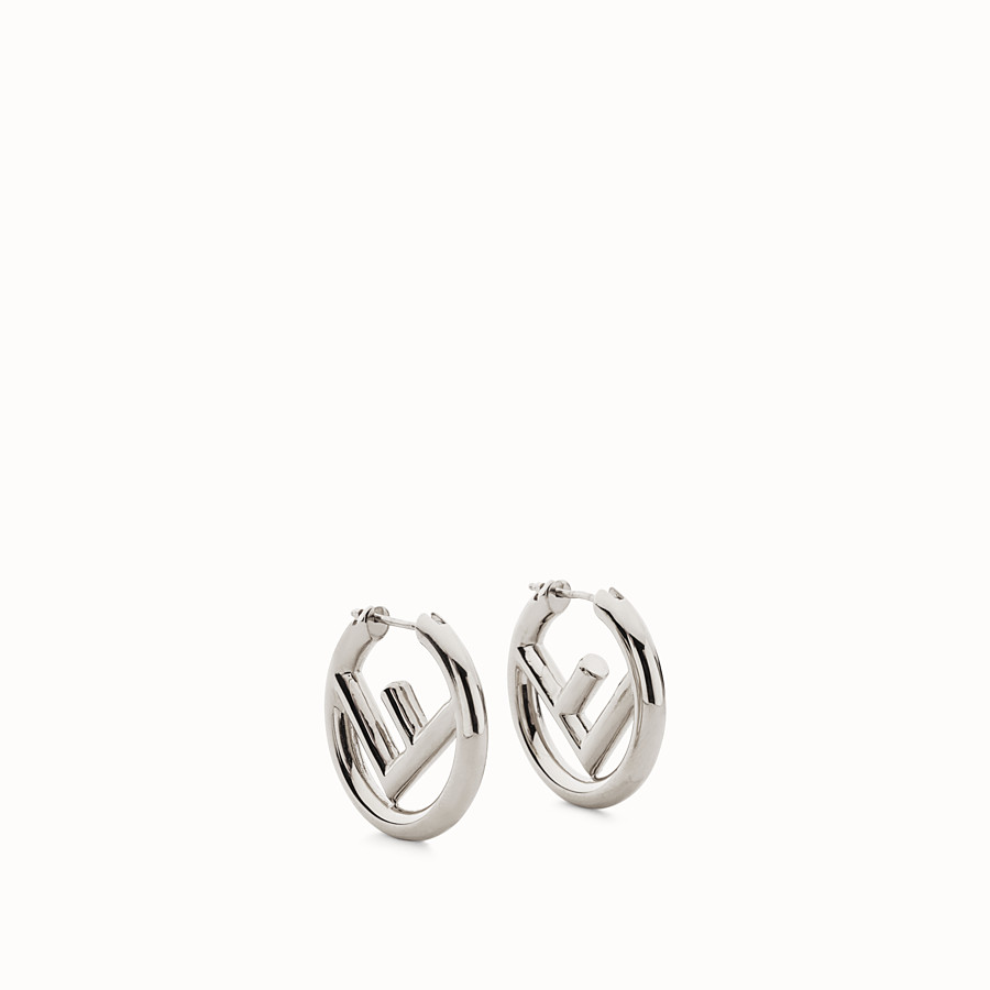 FENDI BOUCLES D'OREILLES F IS FENDI - Boucles d'oreilles couleur palladium - view 1 detail
