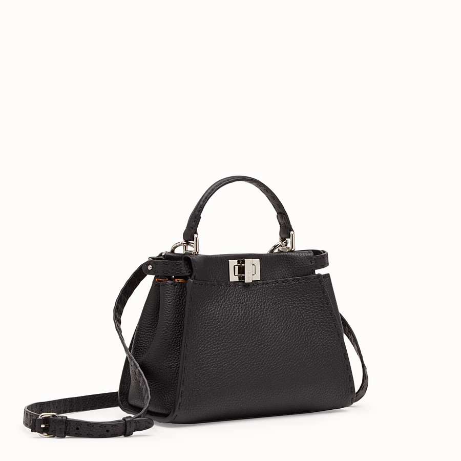FENDI PEEKABOO ICONIC MINI - Sac en cuir noir - view 2 detail