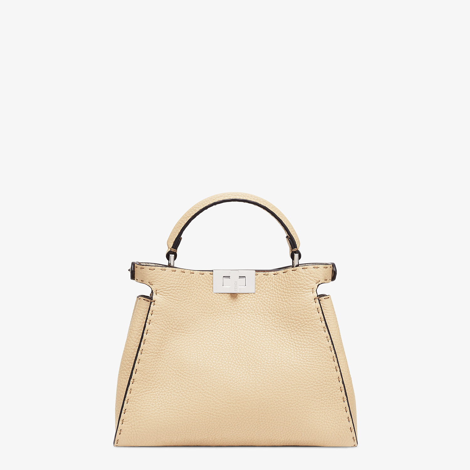 FENDI PEEKABOO ICONIC ESSENTIALLY - Beige Cuoio Romano leather bag - view 4 detail