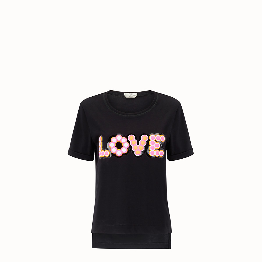 FENDI T-SHIRT - T-shirt en coton blanc - view 1 detail