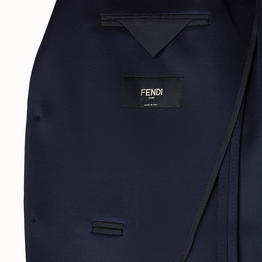 FENDI JACKET - Blue scuba blazer - view 5 detail