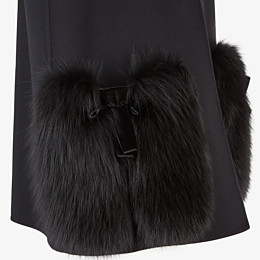 FENDI GILET - Black wool gilet - view 3 thumbnail