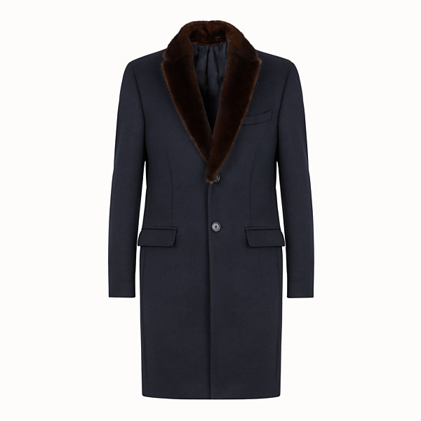 FENDI COAT - Blue wool and cashmere coat - view 1 small thumbnail