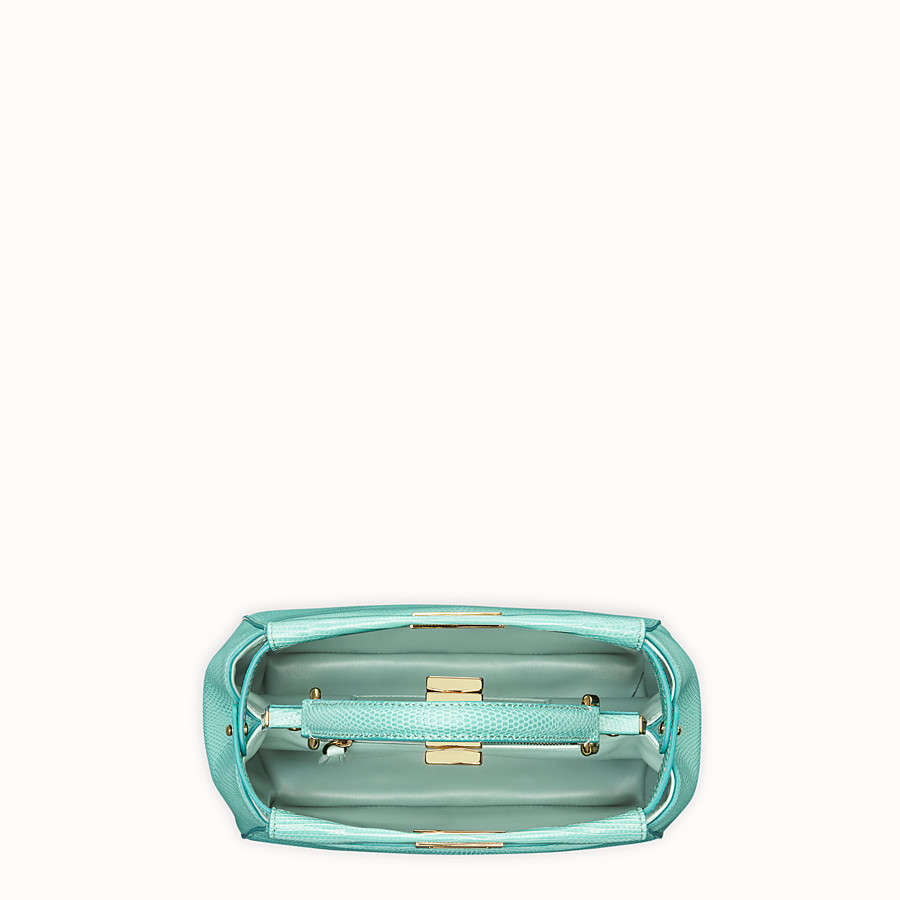 FENDI PEEKABOO ICONIC MINI - Green lizard leather bag - view 4 detail