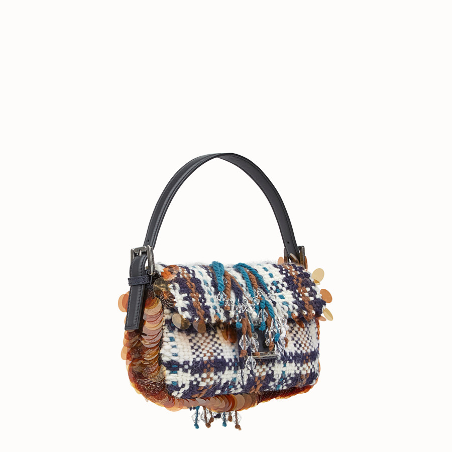 FENDI BAGUETTE - Tartan boiled wool bag - view 2 detail