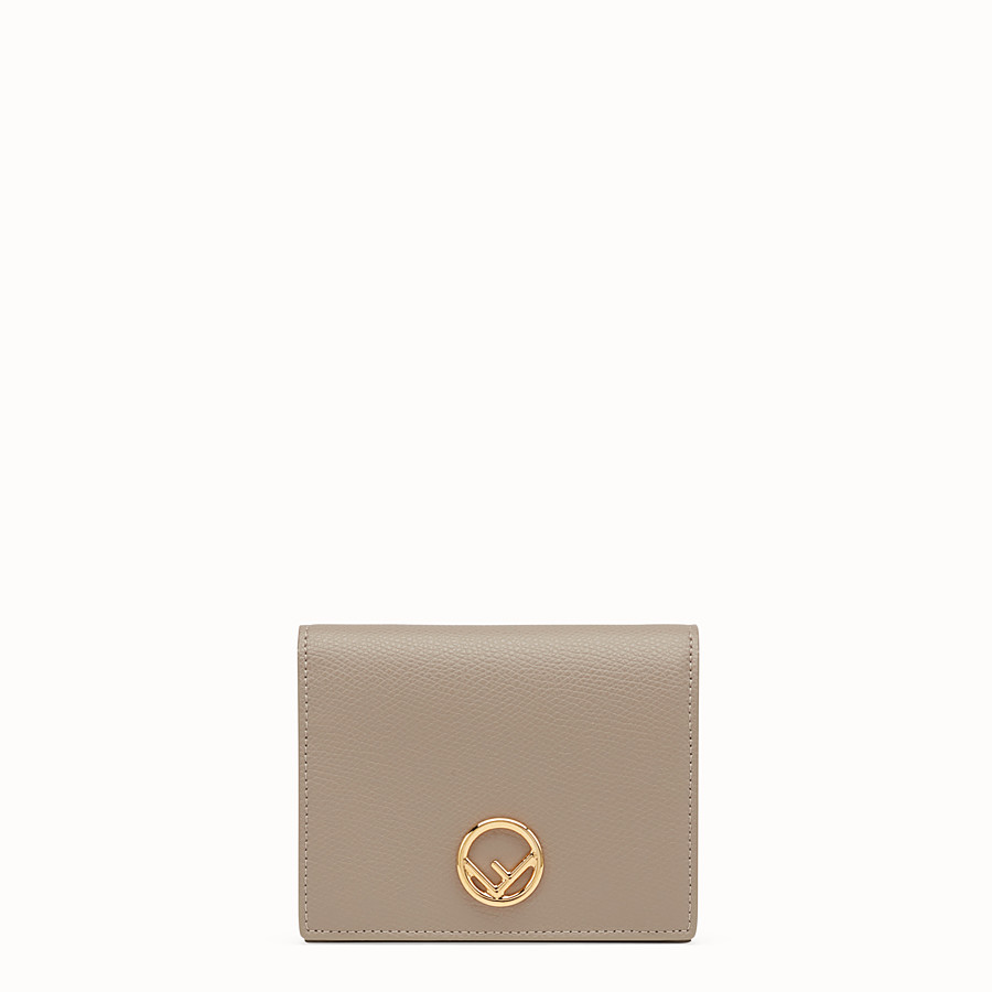 FENDI BIFOLD - Beige compact leather wallet - view 1 detail