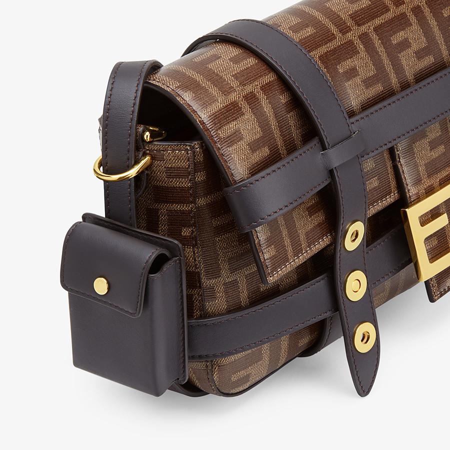 FENDI BAGUETTE CAGE - Brown fabric bag - view 7 detail