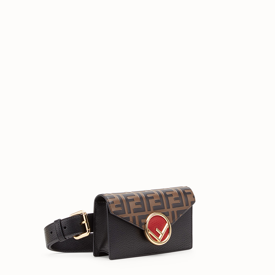 FENDI BELT BAG - Multicolour leather belt bag - view 3 detail