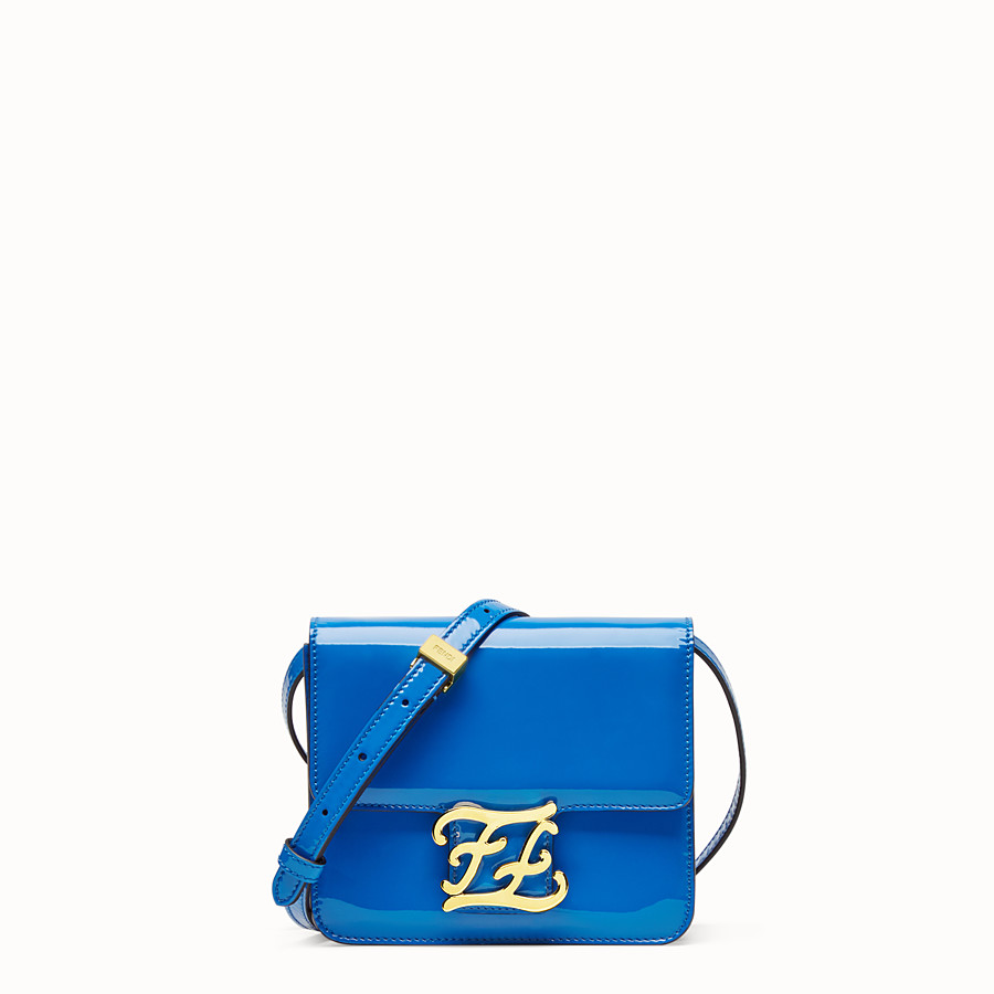 FENDI KARLIGRAPHY - Tasche aus Lackleder in Blau - view 1 detail