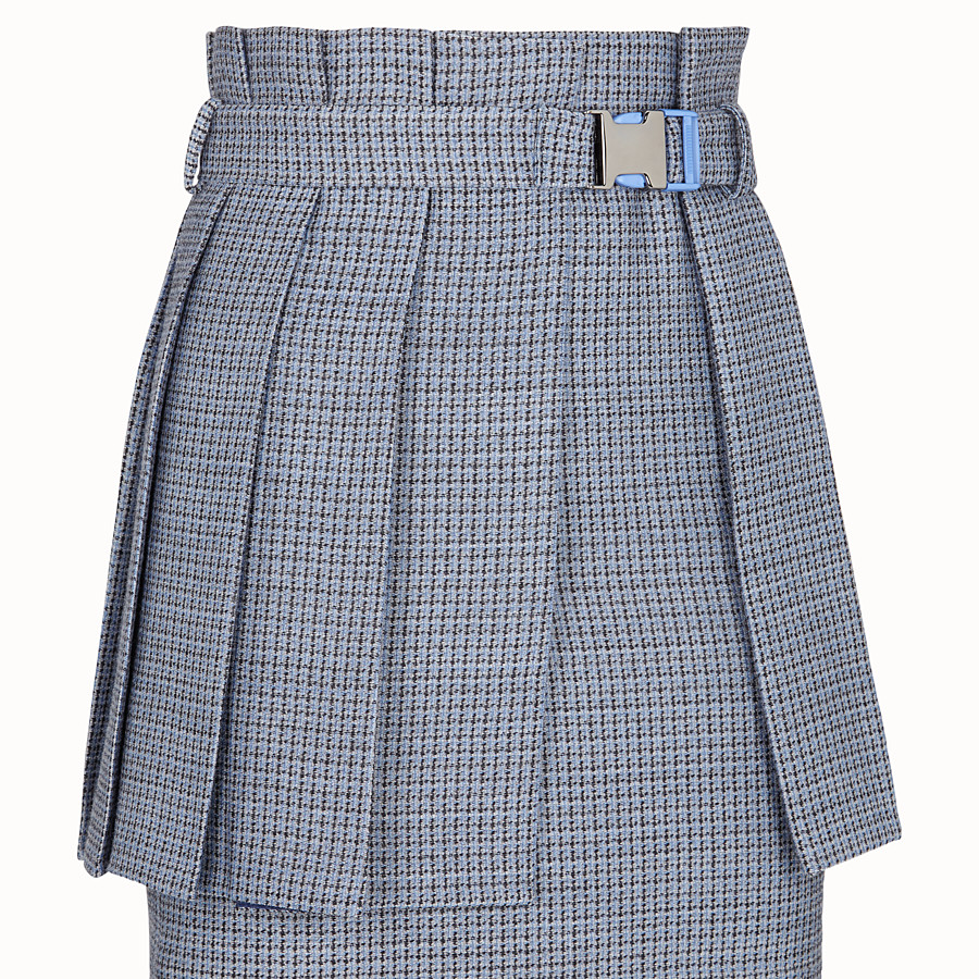 FENDI SKIRT - Micro-check wool and silk skirt - view 3 detail