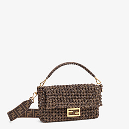 FENDI BAGUETTE - Tasche aus Stoff in Interlace Jacquard - view 3 thumbnail