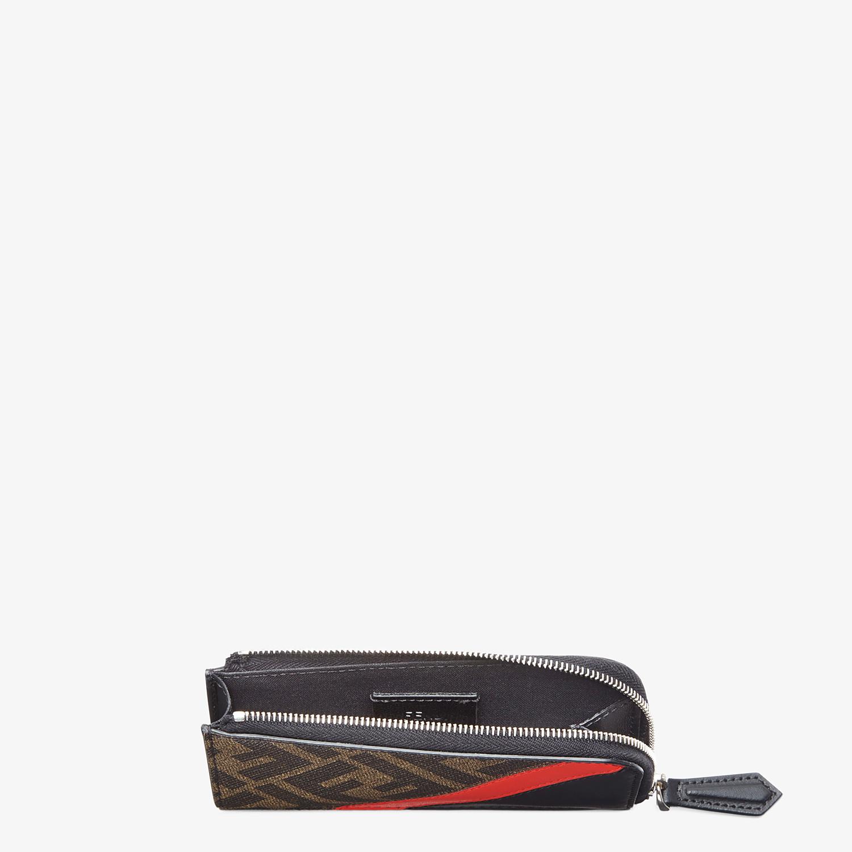 FENDI COIN PURSE - Brown fabric pouch - view 3 detail