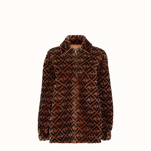 FENDI JACKET - Brown sheepskin jacket - view 1 small thumbnail