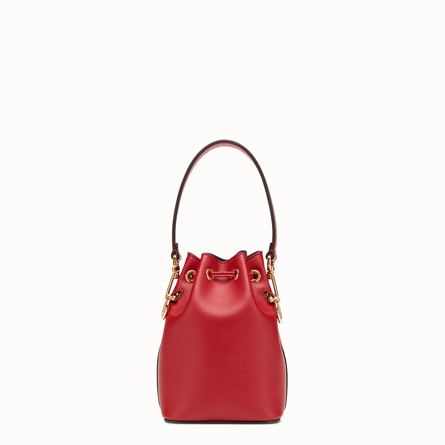 FENDI MON TRESOR - Mini-Tasche aus Leder in Rot - view 3 detail