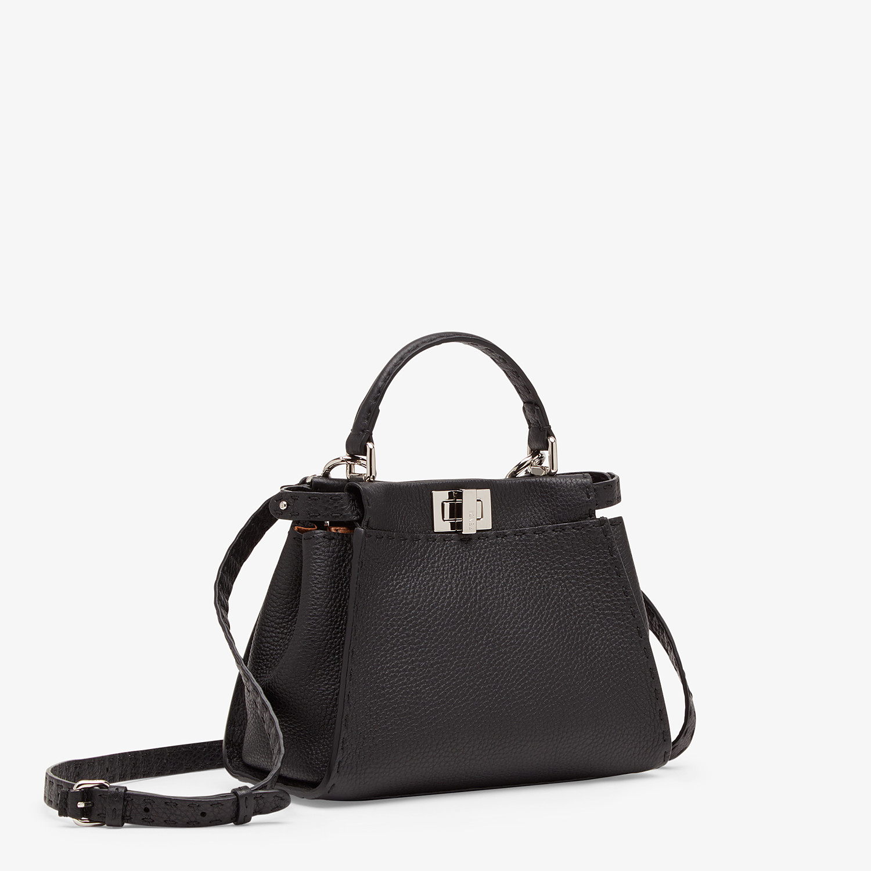 FENDI PEEKABOO ICONIC MINI - Black leather bag - view 3 detail
