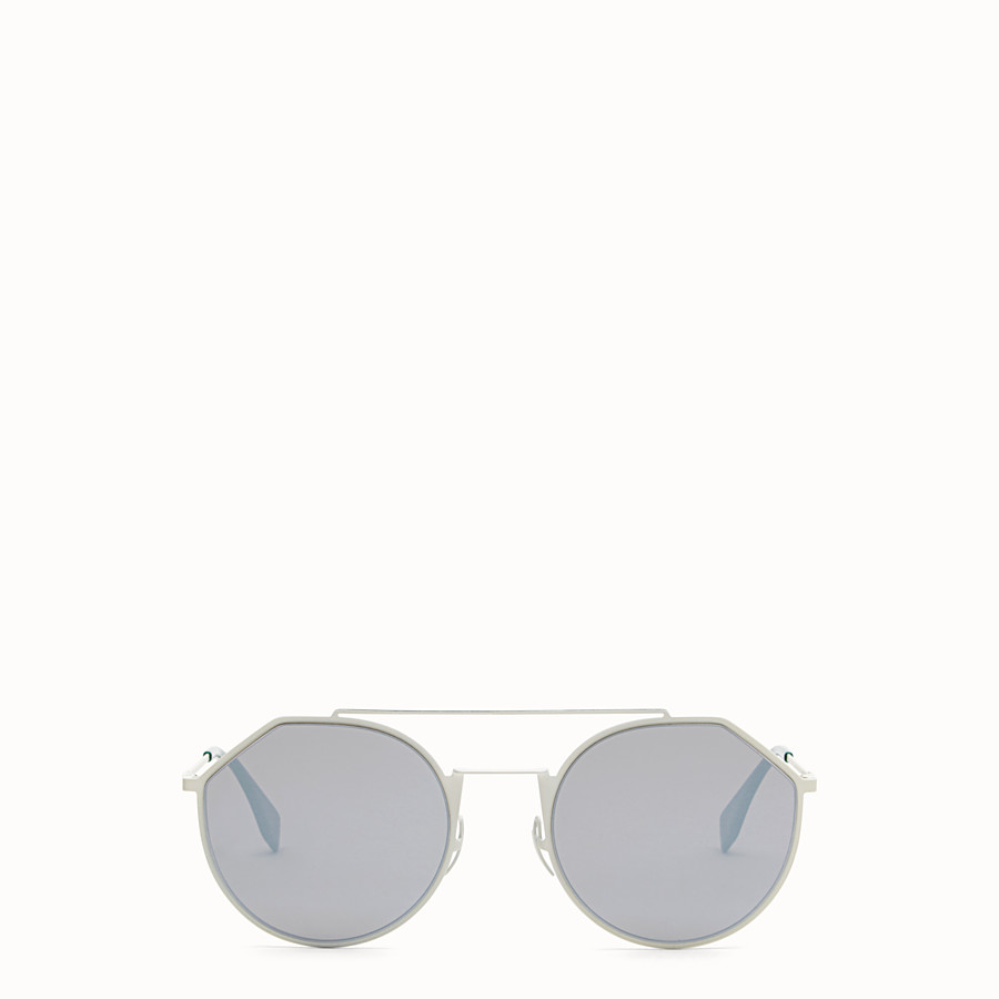 FENDI EYELINE - 白色及綠色太陽眼鏡 - view 1 detail