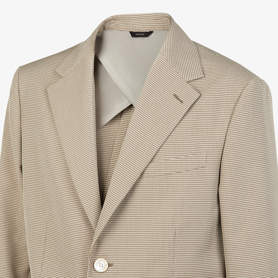 FENDI JACKET - Beige cotton blazer - view 4 detail