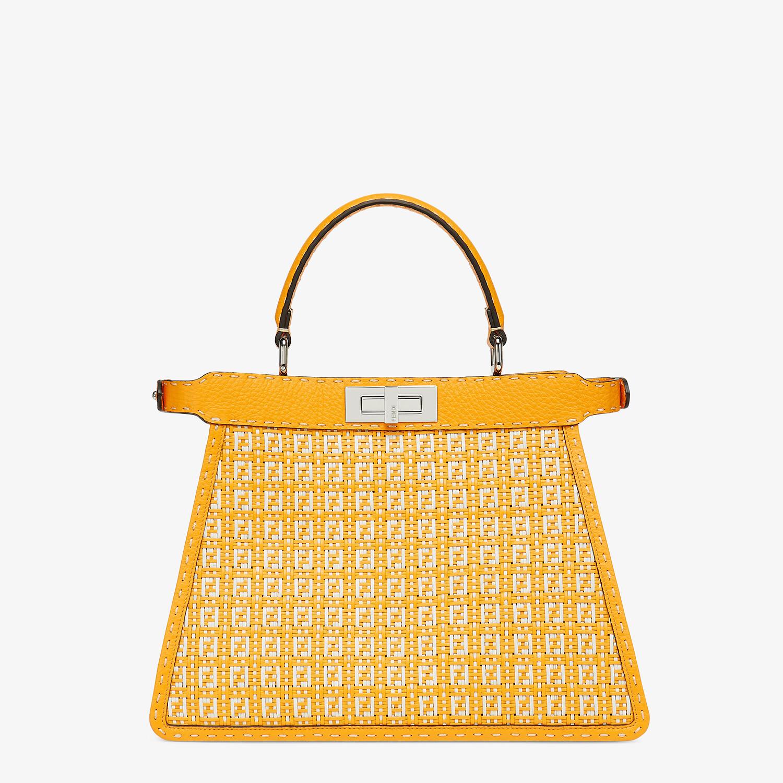 FENDI PEEKABOO ISEEU MEDIUM - Orange and white braided leather bag - view 5 detail