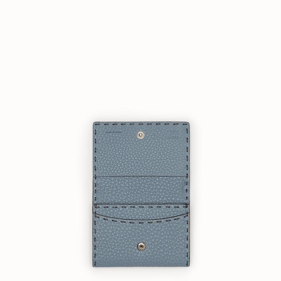 FENDI カードケース - ペールブルー レザー ビジネスカードケース - view 4 detail
