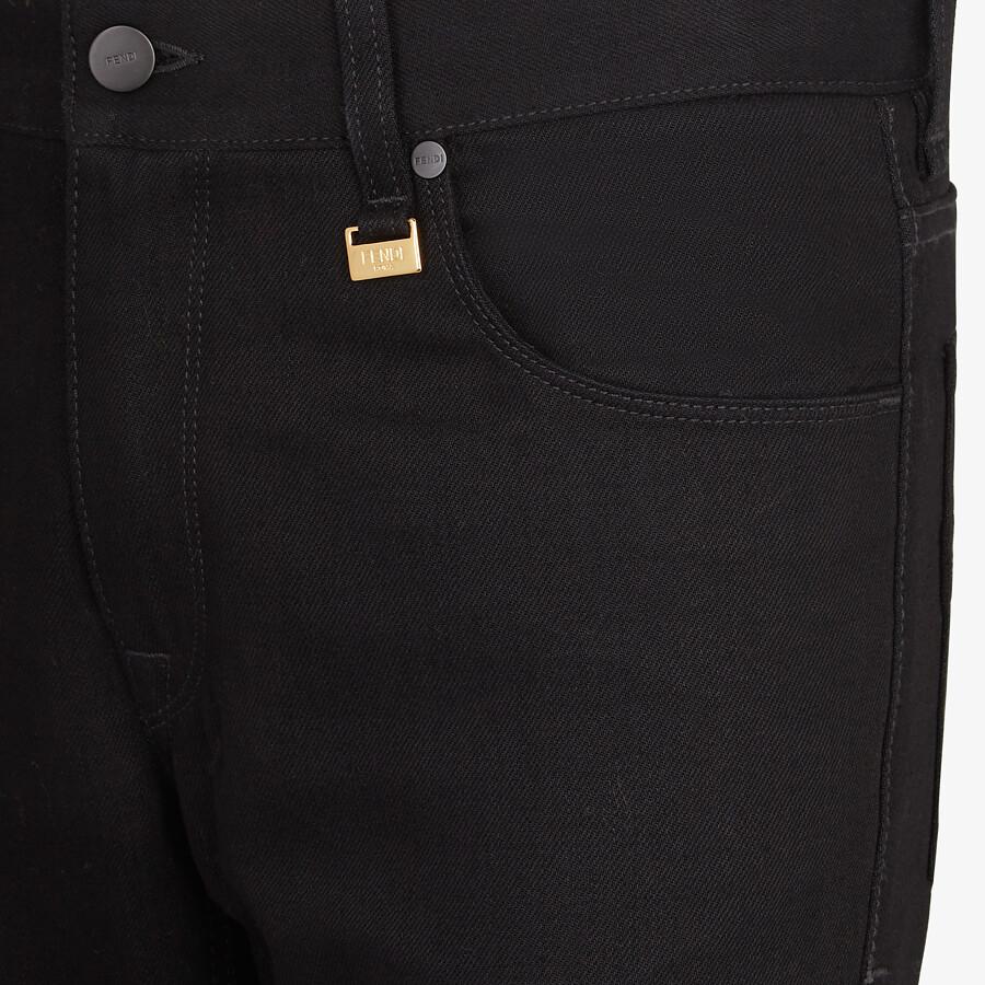 FENDI DENIM - Black denim jeans - view 3 detail