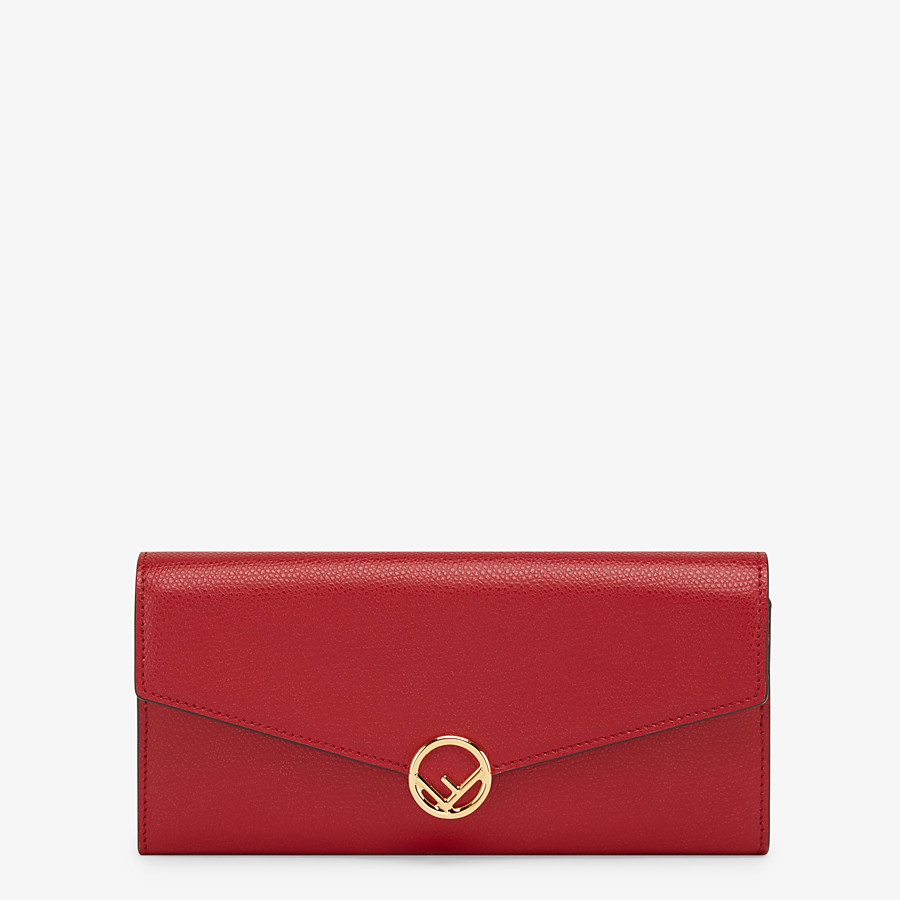FENDI CONTINENTAL WITH CHAIN - Red leather wallet - view 1 detail