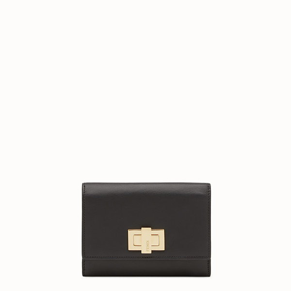 FENDI CONTINENTAL MEDIUM - Medium continental wallet in black leather - view 1 small thumbnail