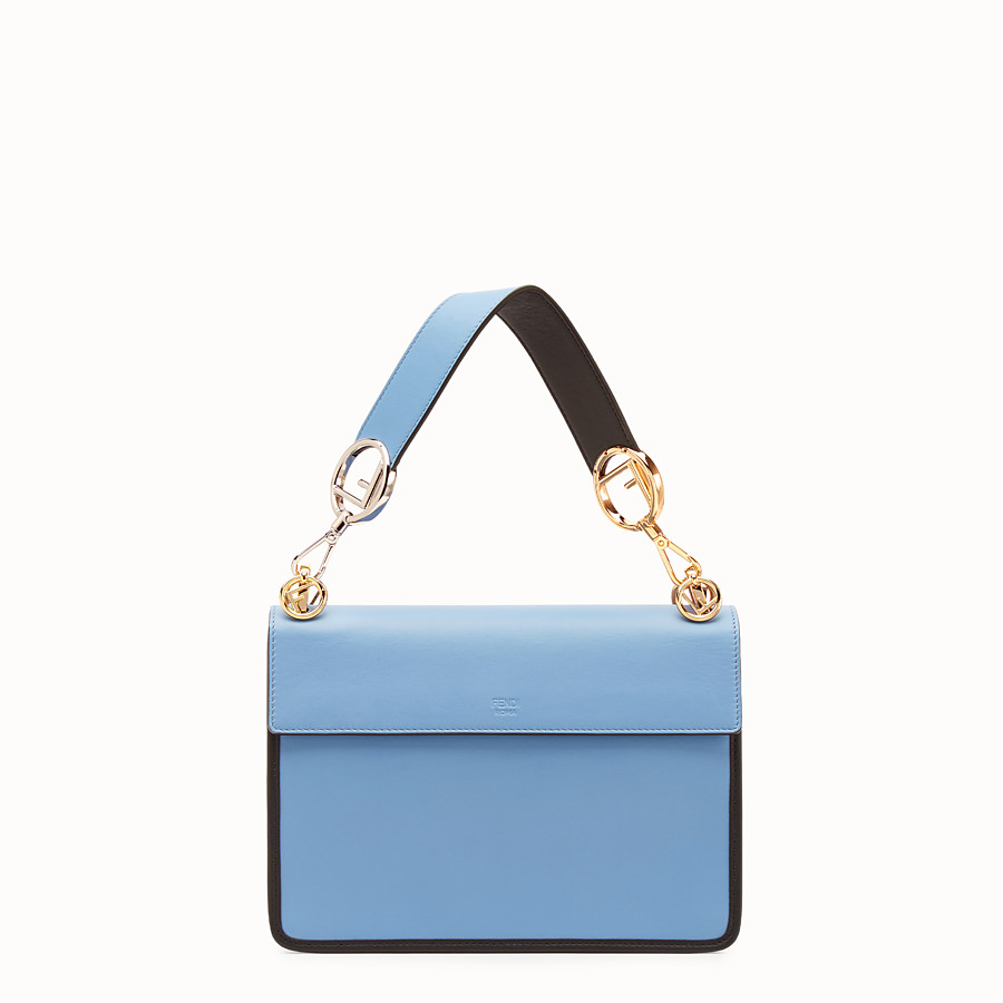 FENDI KAN I F - Pale blue leather bag - view 3 detail