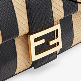 FENDI BAGUETTE - Black python leather bag - view 6 thumbnail
