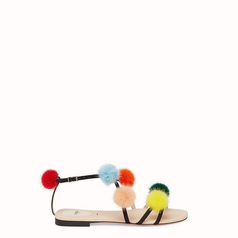FENDI 涼鞋 - 黑色麂皮涼鞋 - view 1 detail