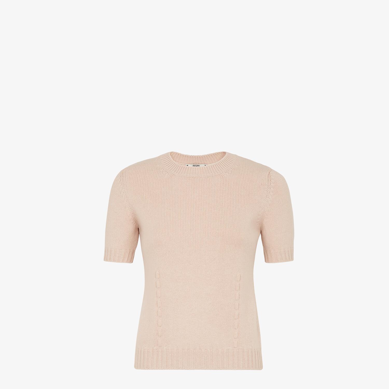 FENDI PULLOVER - Pink cashmere jumper - view 1 detail