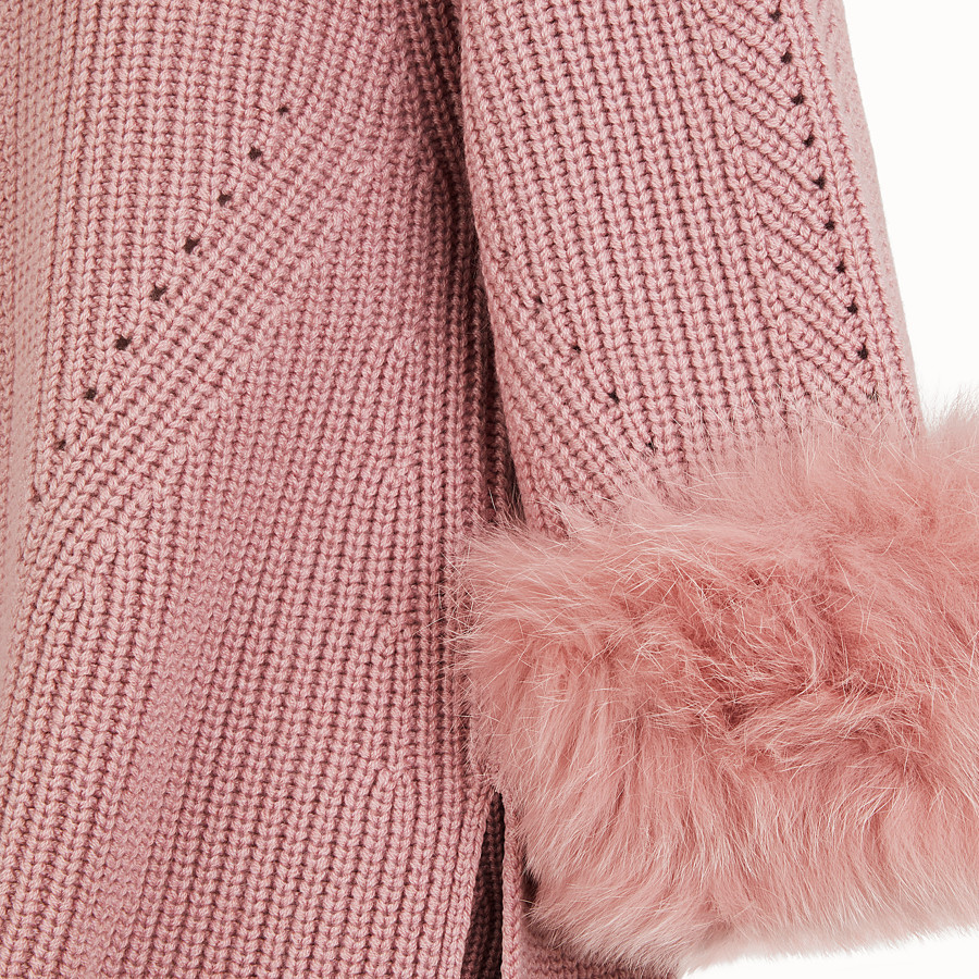 FENDI PULLOVER - Pink cashmere sweater - view 3 detail