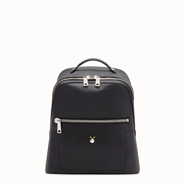 FENDI BACKPACK - Black leather backpack - view 1 small thumbnail