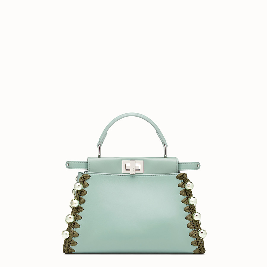 FENDI PEEKABOO MINI - Green leather bag - view 1 detail