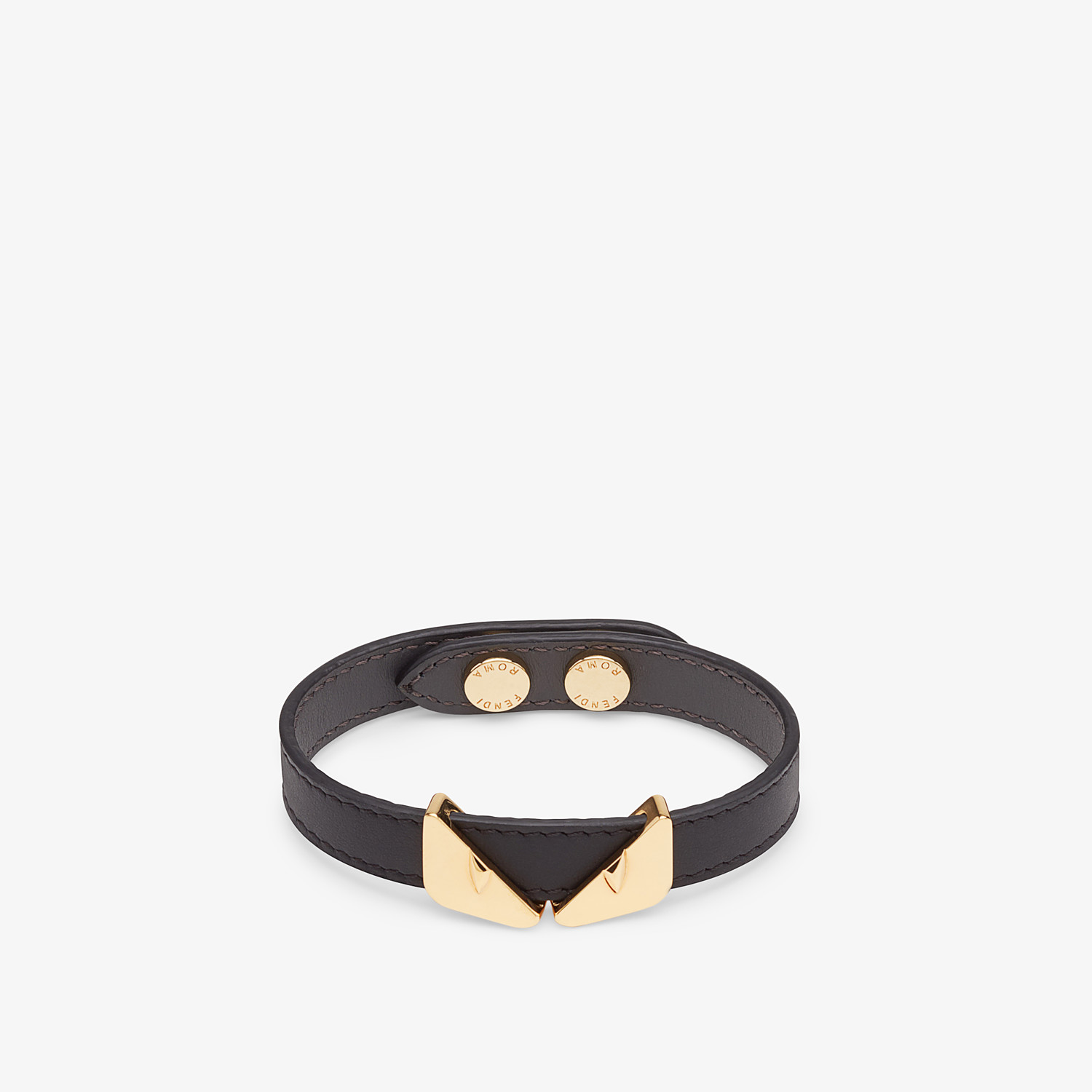 FENDI BRACELET - Black bracelet - view 1 detail