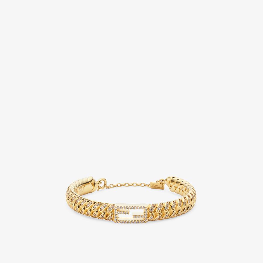 FENDI LARGE BAGUETTE BRACELET - Gold-colour bracelet - view 1 detail