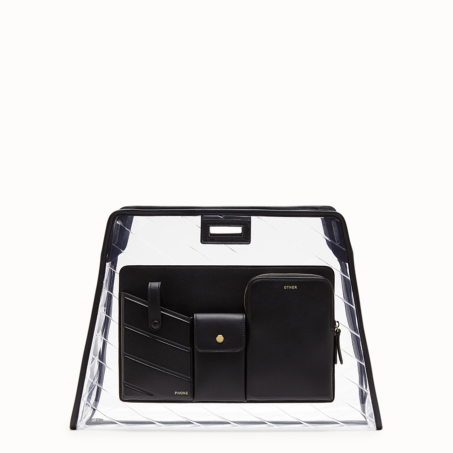 FENDI MEDIUM PEEKABOO DEFENDER - Black leather Peekaboo cover - view 1 detail