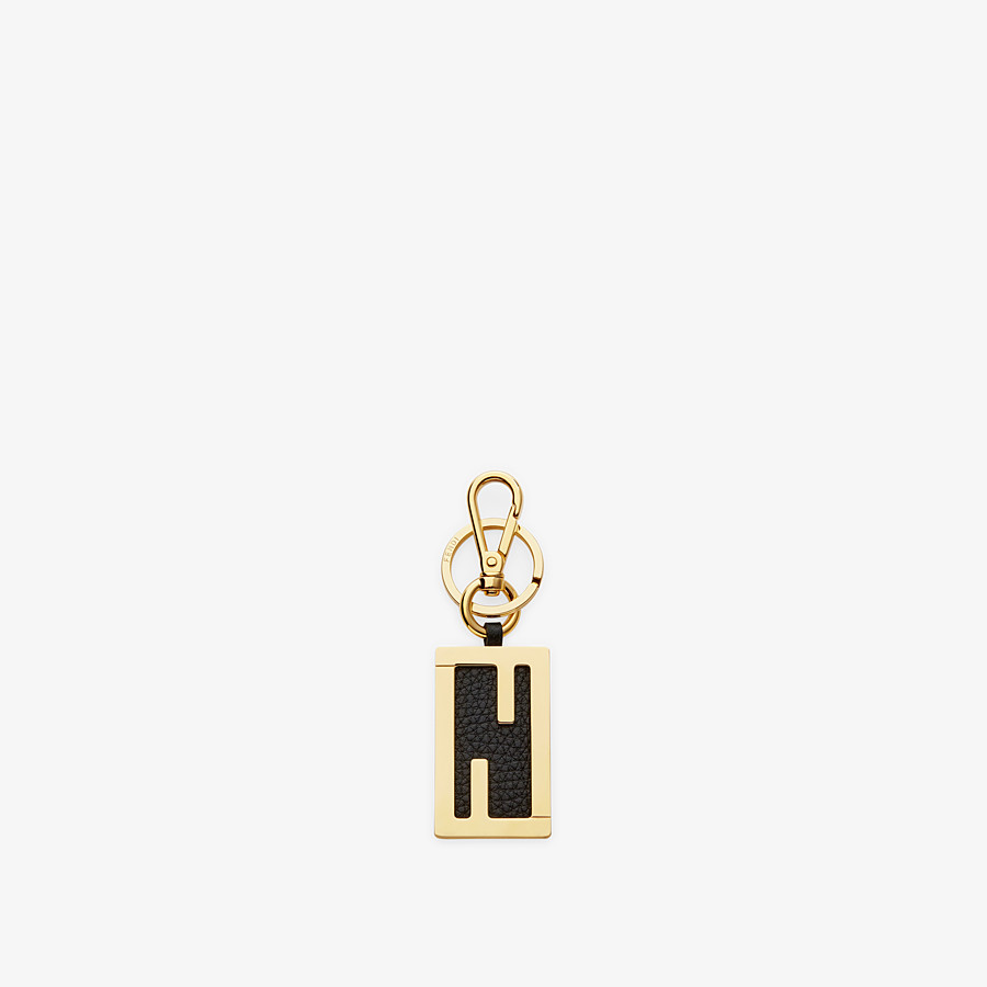 FENDI KEY RING - Black leather key ring - view 1 detail