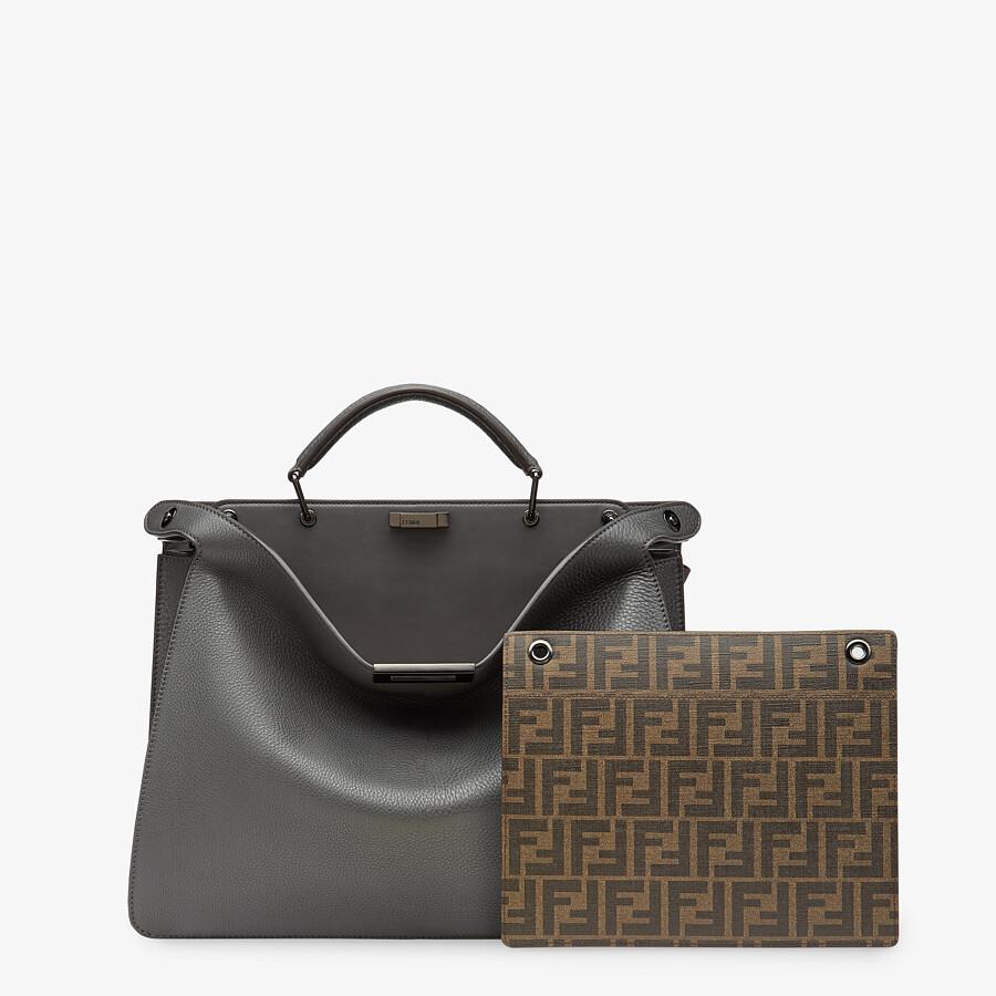 FENDI PEEKABOO ISEEU MEDIUM - Gray leather bag - view 2 detail