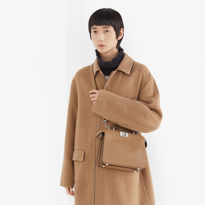 FENDI PEEKABOO ISEEU MINI - Beige leather bag - view 7 detail