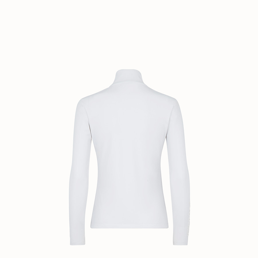 FENDI TECH FABRIC JUMPER - White tech fabric jumper - view 2 detail