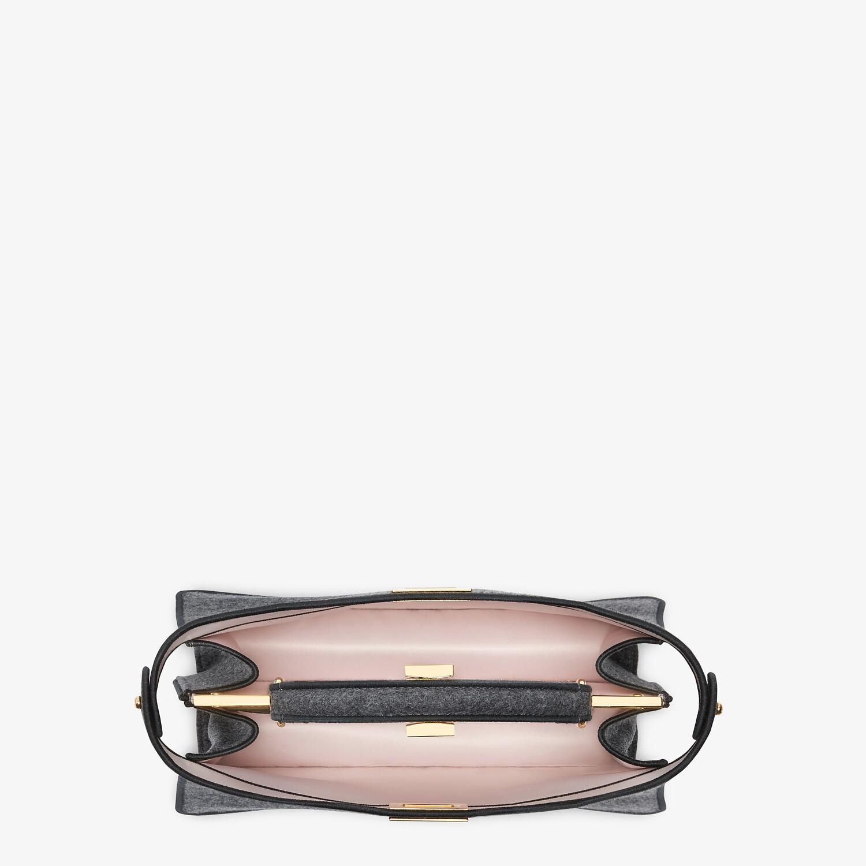 FENDI PEEKABOO I SEE U EAST-WEST - Gray flannel bag - view 5 detail