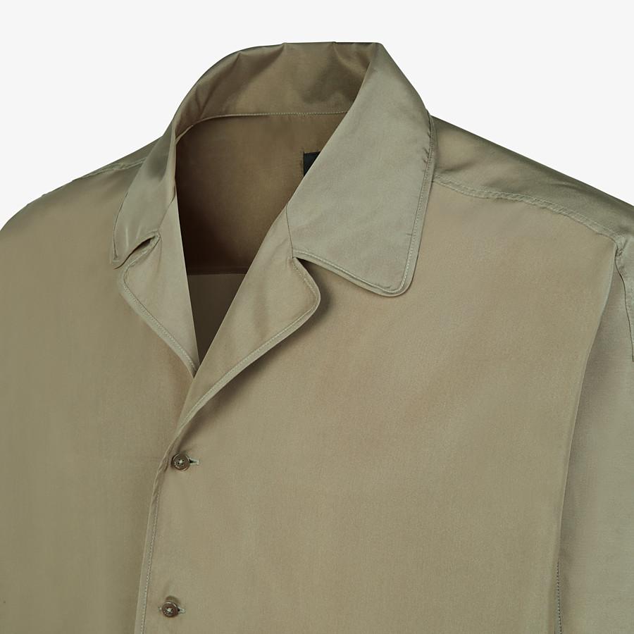 FENDI SHIRT - Green silk shirt - view 3 detail