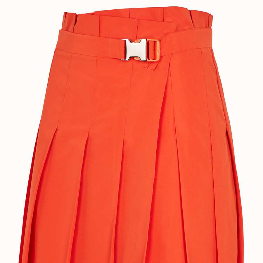 FENDI SKIRT - Orange faille skirt - view 3 detail